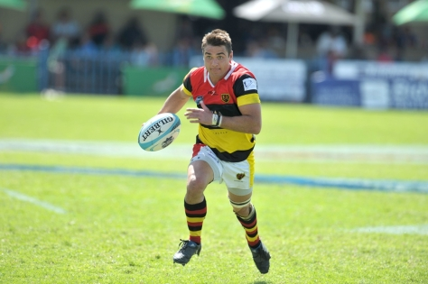 RUSTENBURG, SOUTH AFRICA - Monday 6 April 2015,  PIERRE CRONJE from Hamiltons during the 3rd/4th place play-offs match of the Cell C Community Cup between Hamiltons and Gap Management Despatch at the Impala Rugby Club in Rustenburg, South Africa. Photo by ImageSA/SARU